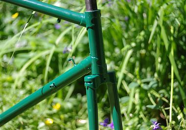 Frame and fork in British Racing Green