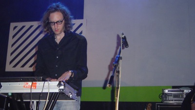 Martin Gretschmann, aka Console, with the Notwist live on the Immergut Festival 2009