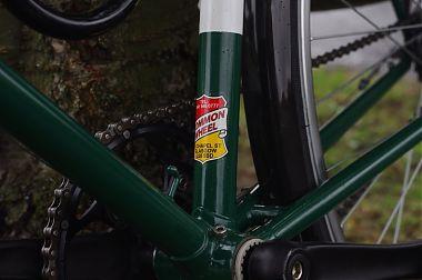 Common wheel badge near stem