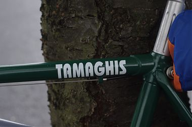 Tamaghis letters on bike frame