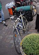 Bike, parked and fully packed